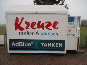 Adblue tanken bij het tankstation